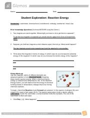 Activity C Bond enthalpy Get the Gizmo ready Select ...