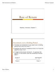 Rate of Return Lecture