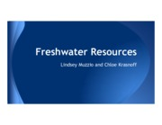 Freshwater Resources HC41