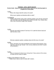 unit 2 atomic structure study guide