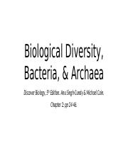 biological diversity bacteria & archaea