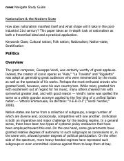 Nationalism & the Modern State Research Paper Starter - eNotes.pdf