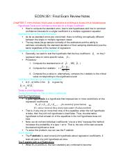 ECON 351 Final Exam Review Notes