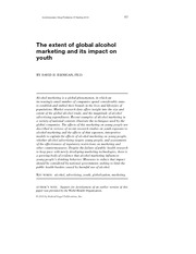 Jernigan (2010)The extent of global alcohol marketing and its impact on youth