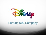 Student Project- Fortune 500 Company- The Walt Disney Company