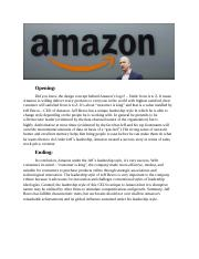 JEFF BEZOS - opening and ending