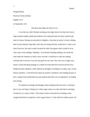 English Essay 1 Completed Copy