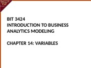 Lecture 14-Variables