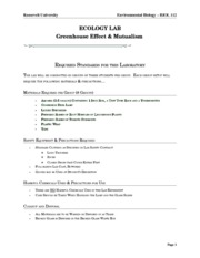 Lab 11 Greenhouse Effect Safety Sheet
