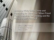 Fall 2011-Chapter 2- Studying White Collar Crime and Assessing Its Costs and When Fraud Pays