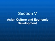 301-5 Asian Culture & Economy Development