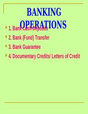 Brief Lesson 12 Banking Operations