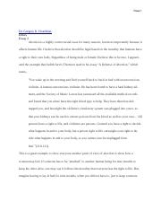 Abortion Essay copy