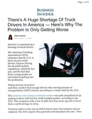 Truck Driver Shortage 2014