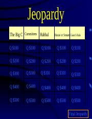 Jeopardy for Congress 1