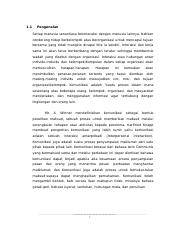 Assignment Komunikasi (NOTES)
