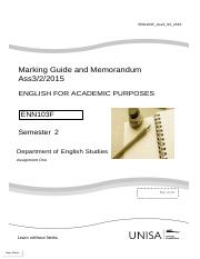 Marking Guide