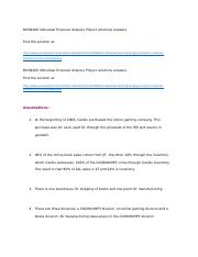 BUSN460 Individual Financial Analysis Project solutions answers.docx