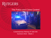 Contemporary Policing - Week 2(2)