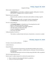 Integrative Biolgy Notes