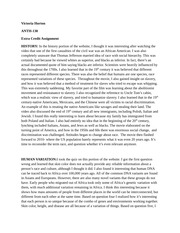assignment 2 anth Anth 2 human origins (4) an introduction to human evolution from the perspective of physical anthropology, including evolutionary theory and the evolution of the primates, hominids, and modern humans.