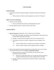 identifying fallacies worksheet f i cant support representative freys. Black Bedroom Furniture Sets. Home Design Ideas