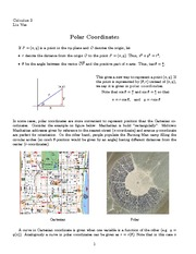 Lecture 24 on Polar Coordinates, Area and Arc Length in Polar Coordinates
