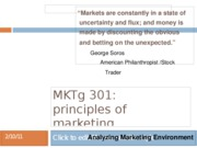 Analyzing Marketing Environment