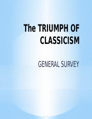 The Triumph of Classicism