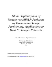 Global Optimization by Domain-Image Partitioning-Application to HEN(Faria and Bagajewicz)-11