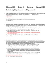 Second Exam 2014 Form A Solutions
