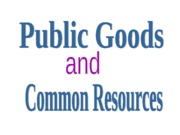 Ch 17 Public Goods and Common Resources