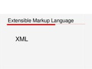 Extensible Markup Language1