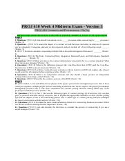 PROJ 410 Week 4 Midterm Exam - Version 3 (MCQs & Essay).doc