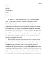 UWG 1101 Reflection Paper #1