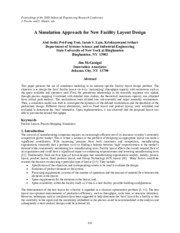 a simulation based approach to new facility layout design journal