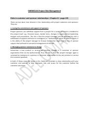 Risks in customer and sponsor relationships - Chapter 8 - page 155.pdf