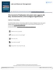 The Control of Saltwater Intrusion into Laguna de Bay Socioeconomic and Ecological Significance-1.pd