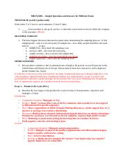 MKTG5001 - Sample Questions and Answers for Midterm Exam.docx
