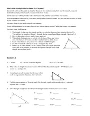 Math 108 Exam 2 Study Guide