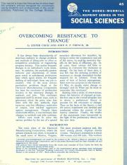 ARTICULO COCH & FRENCH-Overcoming Resistance to Change.pdf