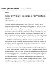 How 'Privilege' Became a Provocation - The New York Times.pdf