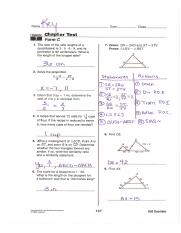 12.1 to 12.4 Review Worksheets- KEY - Practice B 12-1 Reflections Tell whether each