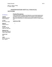 northwestern mutual cover letter