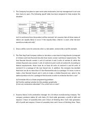 Decision Making and Quantitate Business Methods Questions.docx