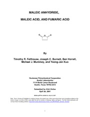 maleic anhydride_ maleic acid_ and fumaric acid - University of South ...