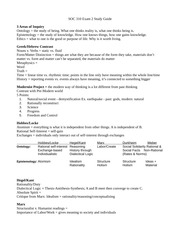 Soc 310 Exam 1 Study Guide Knapp Fall 2014