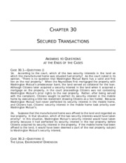 Secured Transactions-Ch30 answers to Questions.doc