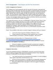 Unit 2 Assignment-Business Law LS311