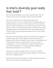 Is Intel's diversity goal really that bold